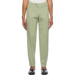 Vejas Green Jersey Tailored Trousers