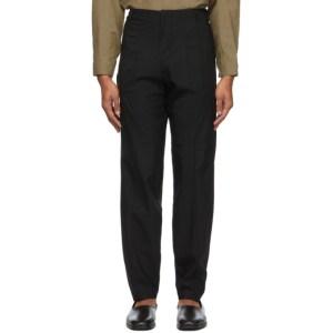 Vejas Black Wool Phantom Trousers