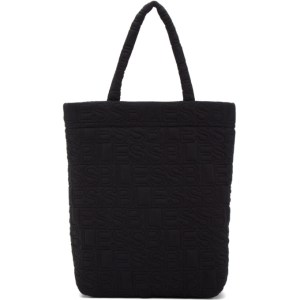 Bless Black Hardcover Quilt Tote