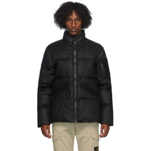 Stone Island Shadow Project Black Down Linen Jacket