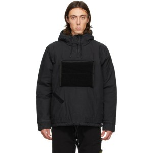 Stone Island Shadow Project Black Padded Pullover Jacket
