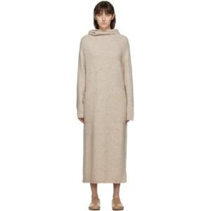 Lauren Manoogian SSENSE Exclusive Beige Alpaca Hooded Dress