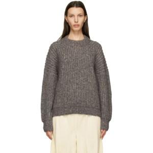 Lauren Manoogian Grey Alpaca and Wool Fisherwoman Sweater