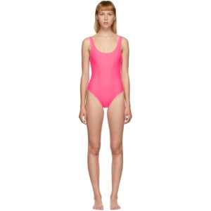 Solid and Striped Pink The Anne-Marie Swimsuit