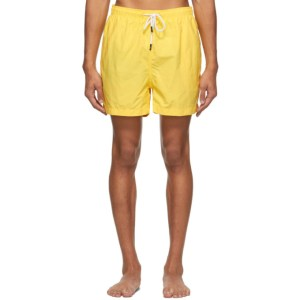 Solid and Striped Yellow The Classic Swim Shorts
