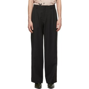 Enfants Riches Deprimes Black Wool Flared Trousers