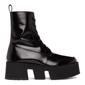Enfants Riches Deprimes Black Leather Les Stompeurs Boots