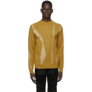 A-COLD-WALL* Yellow Jacquard Terrain Sweater