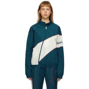 Martine Rose SSENSE Exclusive Blue Twist Track Jacket