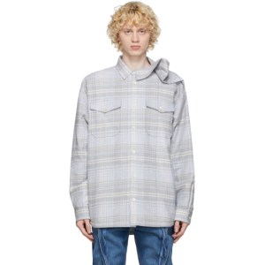 Y/Project Grey Clipped Shoulder Shirt