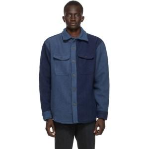 Aime Leon Dore Blue Casentino Wool Shirt