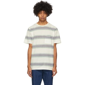 Saturdays NYC White Stripe Randall Pocket T-Shirt