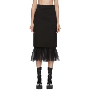 Shushu/Tong Black Tulle Pencil Skirt