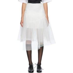 Shushu/Tong SSENSE Exclusive White Two-Layer Skirt