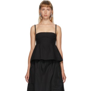 Shushu/Tong SSENSE Exclusive Black Braided Strap Camisole