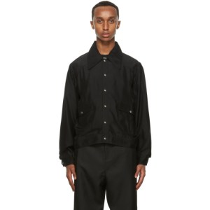 Second/Layer Black Unlined Snap Jacket