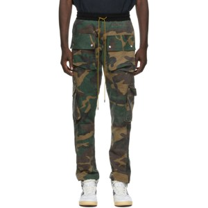 Rhude SSENSE Exclusive Green Camo Rifle Cargo Pants