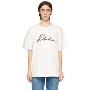Rhude White Logo Script T-Shirt