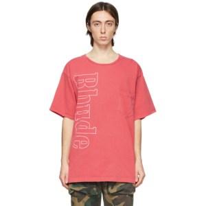 Rhude Red Logo Pocket T-Shirt