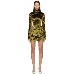 MISBHV Green Velour Hooked Dress