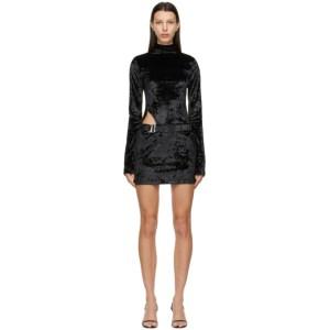 MISBHV Black Velour Hooked Dress