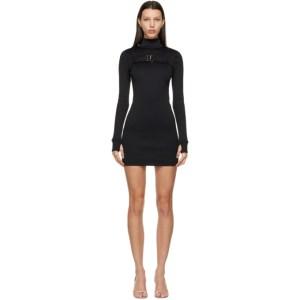MISBHV Black Hooked Ribbed Dress