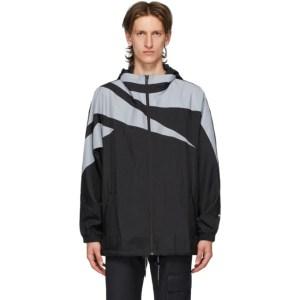 MISBHV Black and Grey Reebok Edition Technical Windbreaker Jacket