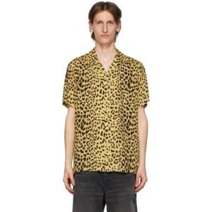 WACKO MARIA Yellow and Black Open Collar Shirt