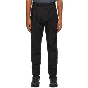 The Viridi-anne Black Wool Bonding Cargo Pants