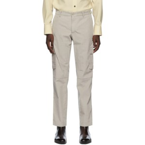 Brioni Taupe Corduroy Cargo Pants