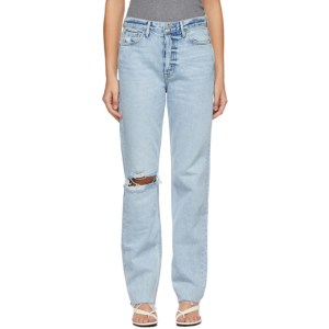 Grlfrnd Blue Washed Mica Jeans