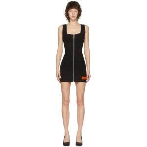 Heron Preston Black Denim Zip Dress