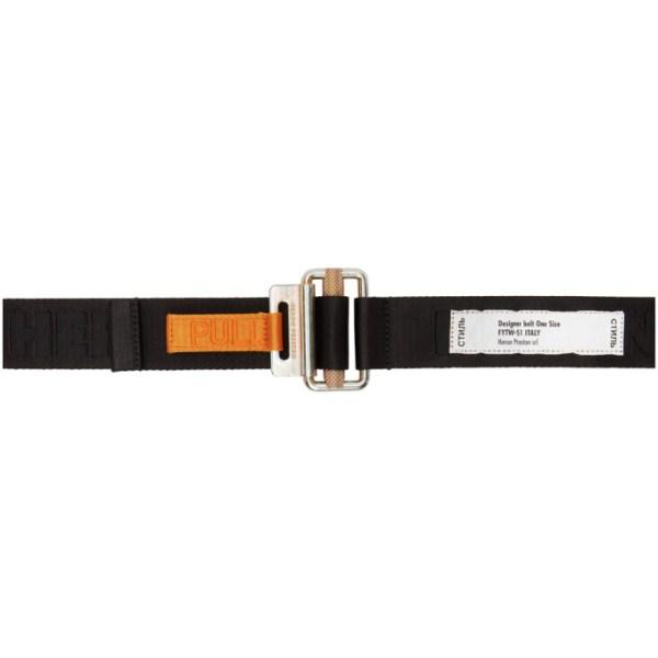 Heron Preston Black Tape Belt