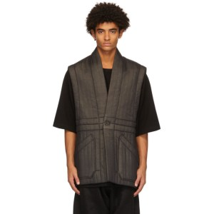 Jan-Jan Van Essche Black Fine Crepe Vest