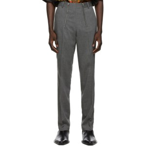 GmbH Grey Wool Tailored Trousers