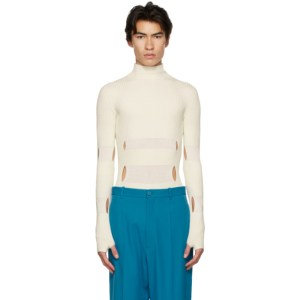 GmbH Off-White Wool Leif Turtleneck