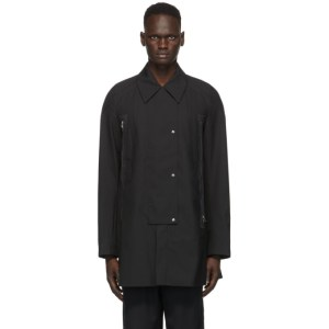 Kiko Kostadinov Black Marcel Double Zip Coat