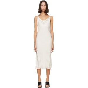 Kiki de Montparnasse Off-White Simple Slip Dress