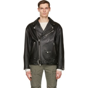 Mackage Black Leather Clement Jacket