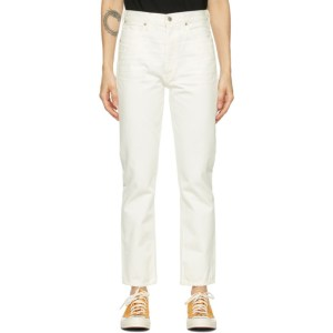 Citizens of Humanity White Charlotte High-Rise Straight Jeans