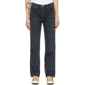 Citizens of Humanity Black Daphne High-Rise Stovepipe Jeans