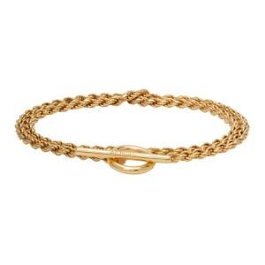 All Blues Gold Polished Rope Bracelet