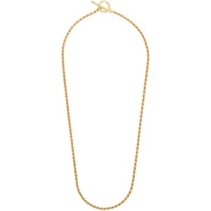 All Blues Gold Polished Rope Necklace