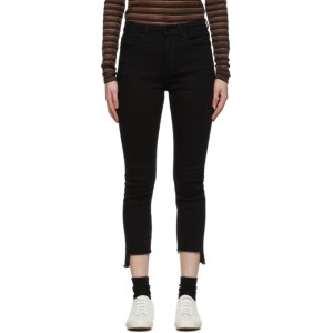 rag and bone Black Nina Cropped Jeans