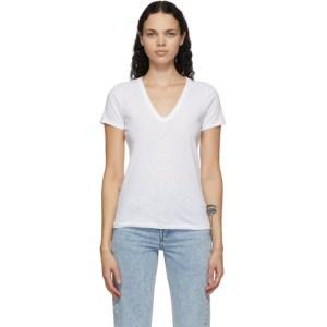 rag and bone White The Slub V-Neck T-Shirt