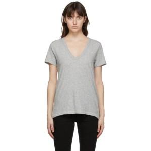 rag and bone Grey The Slub V-Neck T-Shirt