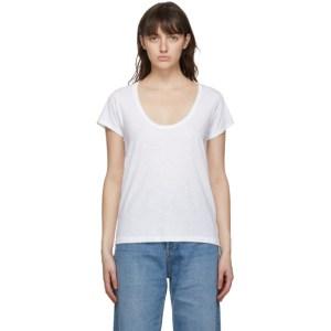 rag and bone White The Slub U-Neck T-Shirt