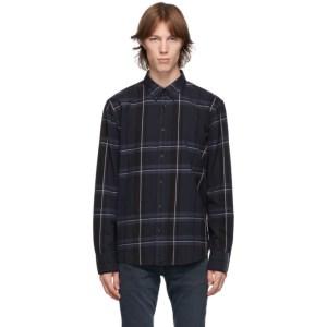 rag and bone Navy Check Fit 2 Thomlin Shirt