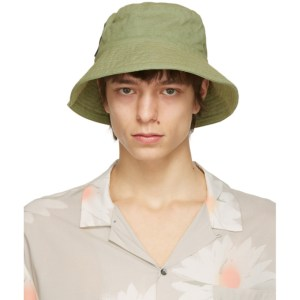 Double Rainbouu Khaki Flop Top Bucket Hat
