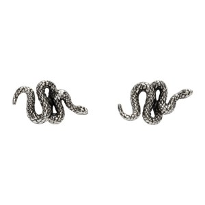 Stolen Girlfriends Club Silver Hiss Stud Earrings